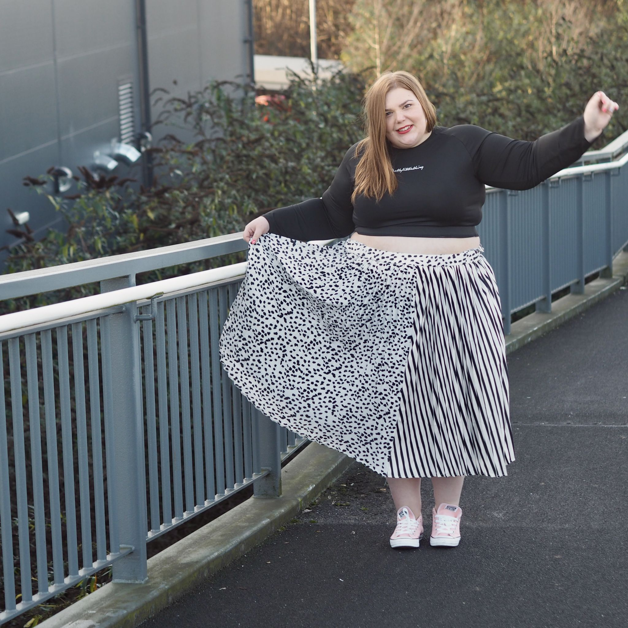 Wearing mixed prints from pretty little thing - Hollie Plus