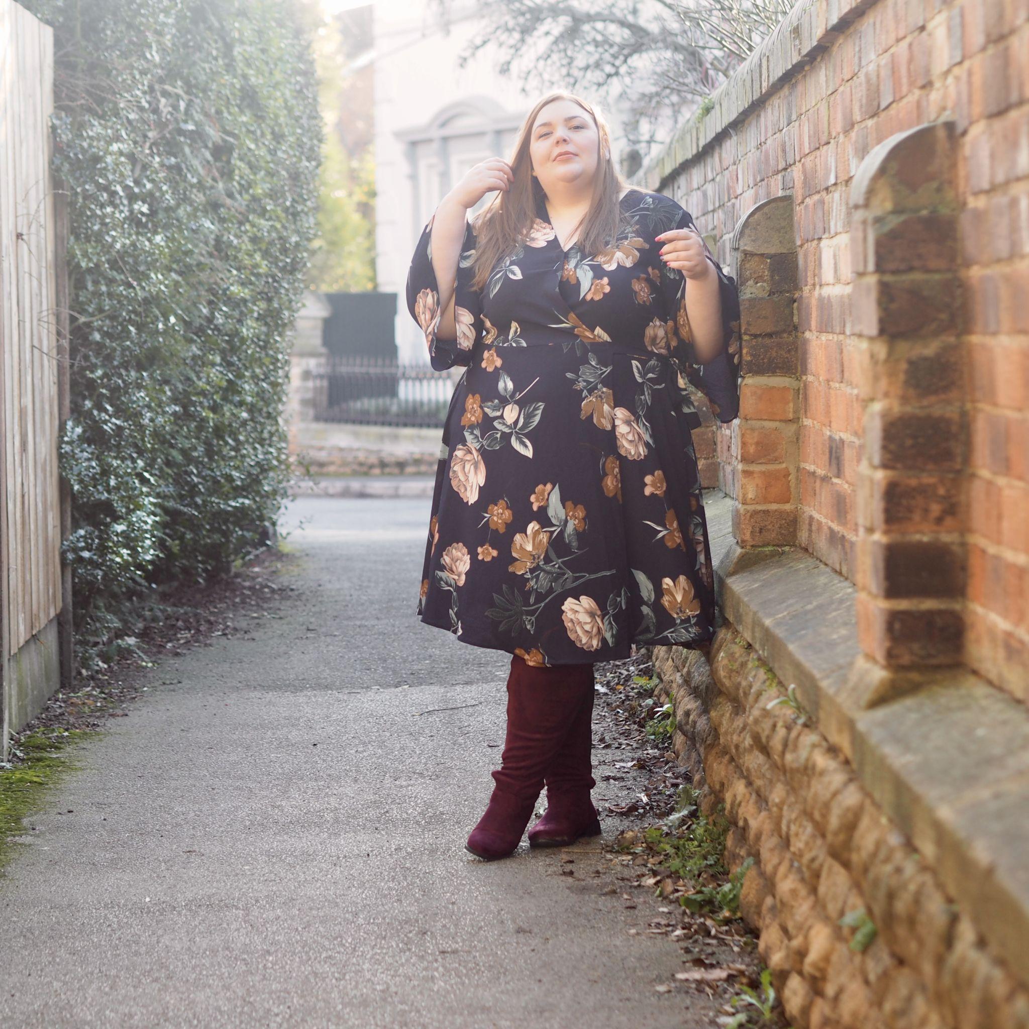 plus size wrap over dress - Hollie Plus